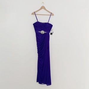 Adrianna Papell Collection Purple Strapless Gown